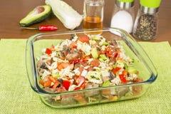 Vegetable salad Stock Images