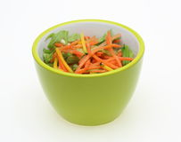 Vegetable salad in a tableware Royalty Free Stock Image
