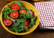 Vegetable salad with tomatoes and arugula Royalty Free Stock Photo