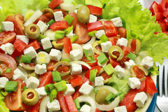 Vegetable salad with tomatoes and goat cheese. Stock Photography