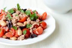 Vegetable salad with tuna. A fresh vegetable salad with tuna Stock Photography