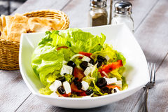 Vegetable salad, which is called Greek salad Stock Image