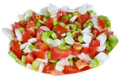 Vegetable salad. On white background Stock Photos