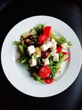 Vegetable Salad on White Ceramic Plate Royalty Free Stock Photography
