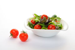 Vegetable salad on white Stock Images