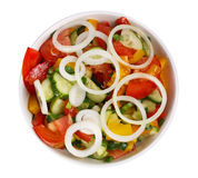 Vegetable Salad With A Onion Royalty Free Stock Photos