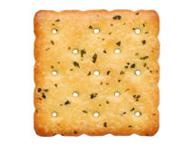 Vegetable salty crackers stock image