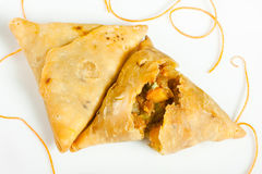 Vegetable samosa Stock Photos