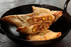Vegetable Samosa Royalty Free Stock Images