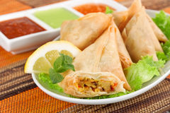 Vegetable samosa Royalty Free Stock Photography