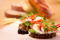 Vegetable sandwich. Fresh vegetable sandwich with eggs Royalty Free Stock Photography