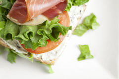 Vegetable sandwich Stock Photo