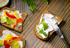 Vegetable sandwich - sandwiches with vegetables Stock Image