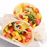 Vegetable sandwich wrap Stock Image