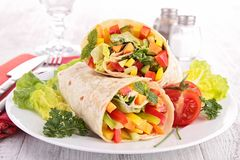 Vegetable sandwich wrap Stock Photos