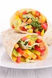 Vegetable sandwich wrap Royalty Free Stock Photos