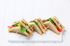 Vegetable Sandwiches Royalty Free Stock Photo