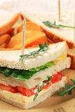 Vegetable Sandwiches and crisps Royalty Free Stock Images