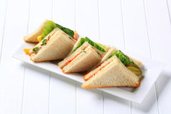 Vegetable Sandwiches Stock Photography