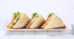 Vegetable Sandwiches Stock Images