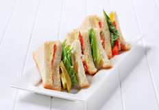 Vegetable Sandwiches Stock Photos