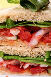 Vegetable sandwitch verticle cut Stock Photos