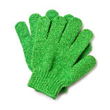 Vegetable scrubbing gloves Stock Photo