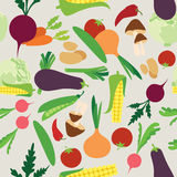Vegetable seamless Royalty Free Stock Images
