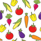 Vegetable seamless background. The colorful vegetable seamless background Royalty Free Stock Images