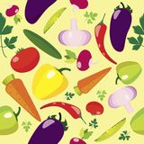 Vegetable Seamless Pattern Stock Photography