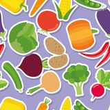 Vegetable seamless pattern. The image of vegetables Royalty Free Stock Photo