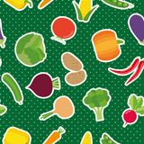 Vegetable seamless pattern. The image of vegetables Stock Images