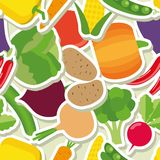 Vegetable seamless pattern. The image of vegetables Stock Photos