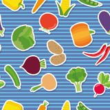 Vegetable seamless pattern. The image of vegetables Royalty Free Stock Image