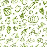 Vegetable seamless pattern for your design Royalty Free Stock Images