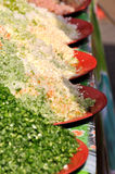 Vegetable and seasoning powder Royalty Free Stock Image
