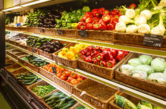 Vegetable section in the store Royalty Free Stock Photography
