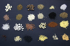 Vegetable seeds royalty free stock photos