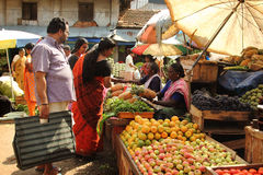 Vegetable seller Royalty Free Stock Photography
