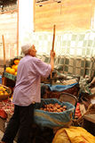 Vegetable seller Royalty Free Stock Photos
