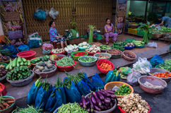 Vegetable seller in Can Tho, Vietnam Royalty Free Stock Photography