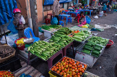 Vegetable seller in Can Tho, Vietnam Royalty Free Stock Images