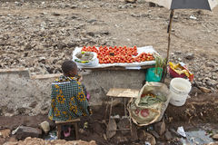 Vegetable seller, Kibera Kenya Royalty Free Stock Photography