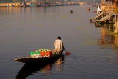 Vegetable seller, Srinagar, Kashmir, India Royalty Free Stock Photo