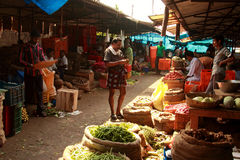 Vegetable sellers Royalty Free Stock Photos