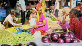 Vegetable sellers India Royalty Free Stock Photo