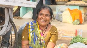Vegetable sellers India Royalty Free Stock Photos