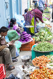 Vegetable Sellers, Kathmandu, Nepal Royalty Free Stock Images