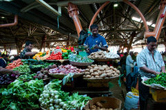 Vegetable sellers on the market Royalty Free Stock Photography