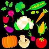 Vegetable set Royalty Free Stock Images